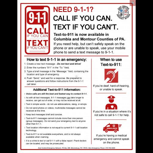 ECEN TEXT TO 911